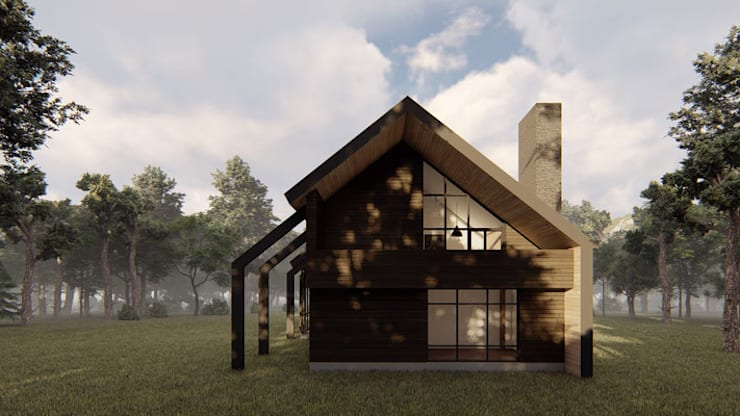 Casa VL Casas estilo moderno: ideas, arquitectura e imágenes de Soc. Constructora Cavent Spa Moderno