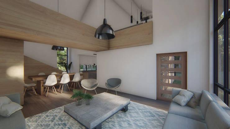Casa VL: Salas multimedias de estilo  por Soc. Constructora Cavent Spa, Moderno