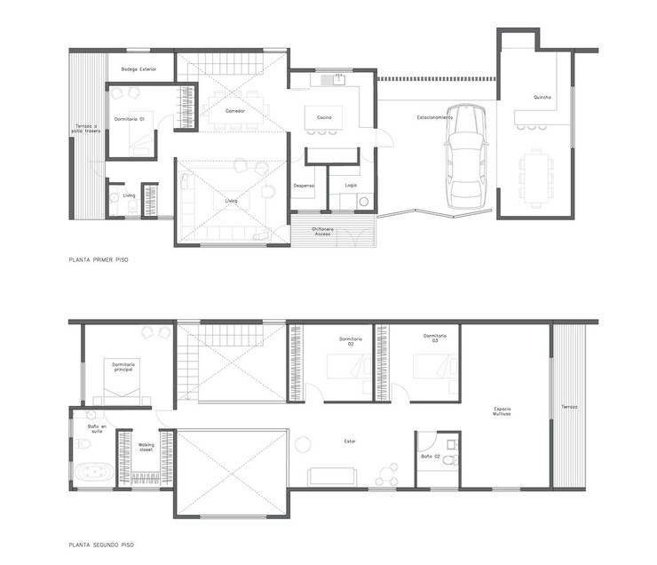 Maisons modernes par Soc. Constructora Cavent Spa Moderne