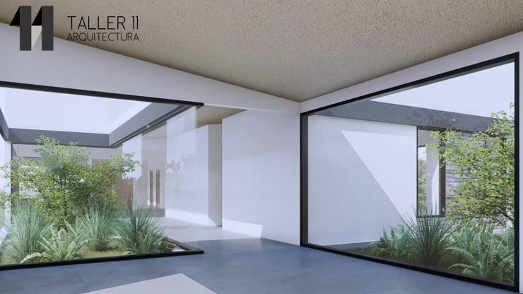 Vista interior jardines: Jardines de estilo  por Taller Once Arquitectura, Minimalista