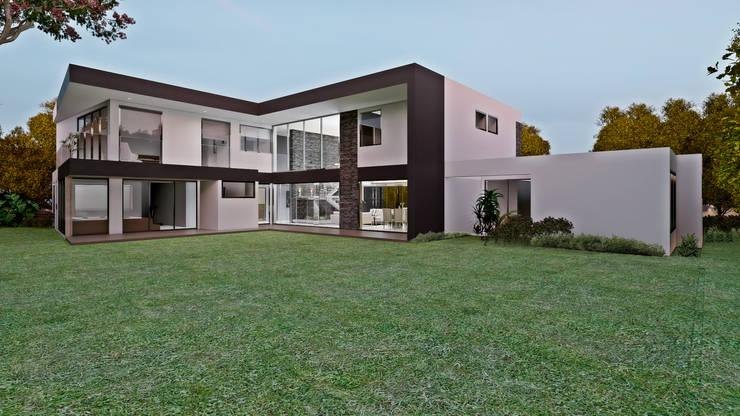 CASA GOMEZ : Casas campestres de estilo  por M.arquitectura, Moderno Concreto