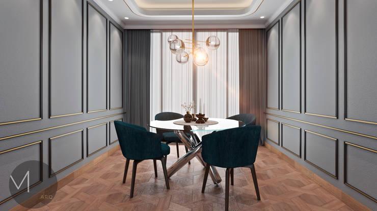 COMEDOR : Comedores de estilo  por M.arquitectura, Moderno