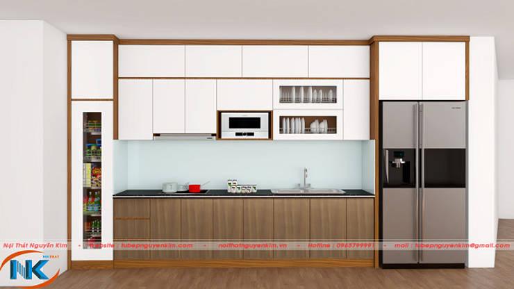 Sự khác biệt hiện đại, tinh tế của dòng tủ bếp acrylic vân gỗ bởi Nội thất Nguyễn Kim