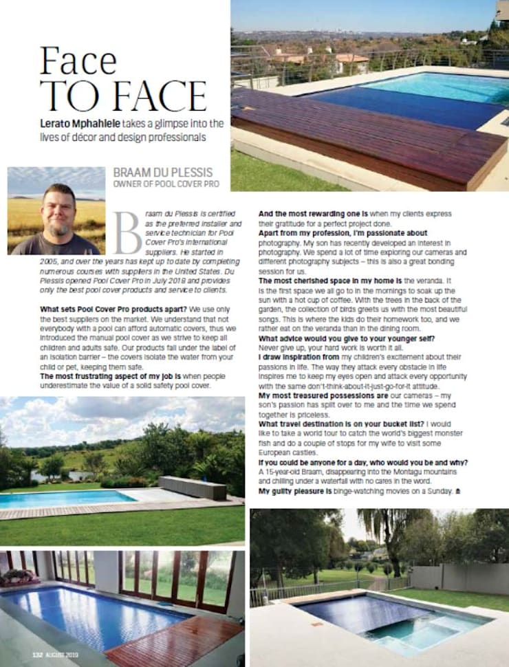 Pool Cover Pro - Braam du Plessis:  Garden Pool by Pool Cover Pro, Modern