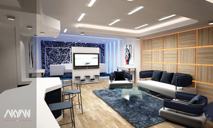 reception :  فنادق تنفيذ AKYAN, حداثي خشب معالج Transparent