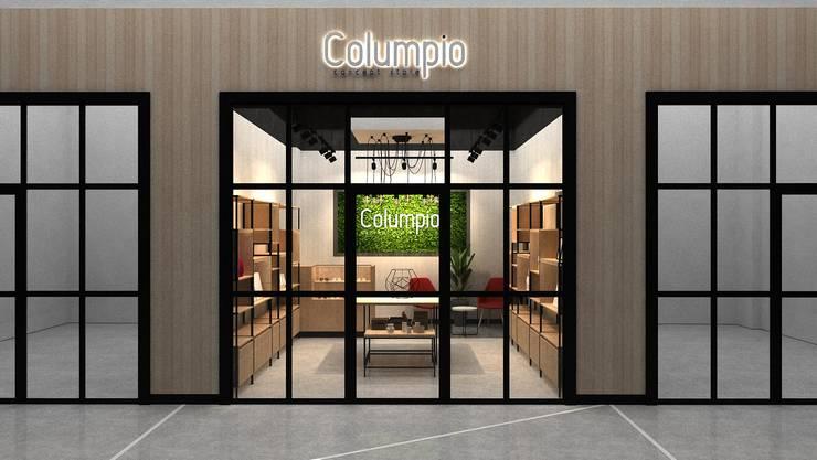 Fachada: Centros Comerciales de estilo  por AUTANA estudio, Moderno Compuestos de madera y plástico