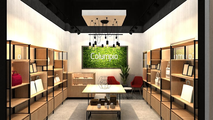 Muro de fondo: Espacios comerciales de estilo  por AUTANA estudio, Moderno Aglomerado