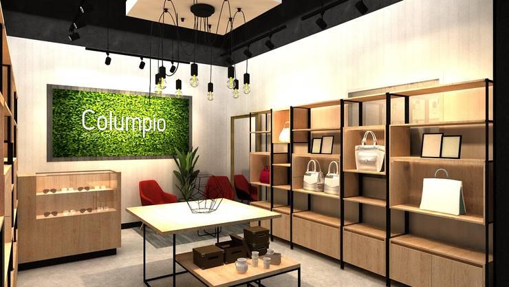 Mobiliario perimetral: Espacios comerciales de estilo  por AUTANA estudio, Moderno Aglomerado
