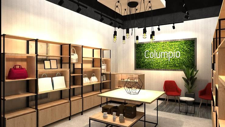 Mueble de caja : Espacios comerciales de estilo  por AUTANA estudio, Moderno Aglomerado