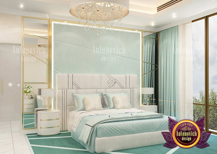 "Light Green Bedroom Furniture in Dubai: {:asian=>""asian"", :classic=>""classic"", :colonial=>""colonial"", :country=>""country"", :eclectic=>""eclectic"", :industrial=>""industrial"", :mediterranean=>""mediterranean"", :minimalist=>""minimalist"", :modern=>""modern"", :rustic=>""rustic"", :scandinavian=>""scandinavian"", :tropical=>""tropical""}  by Luxury Antonovich Design,"