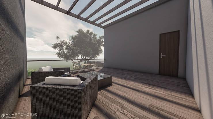 Balcones y terrazas de estilo minimalista de Anastomosis Design Lab Minimalista