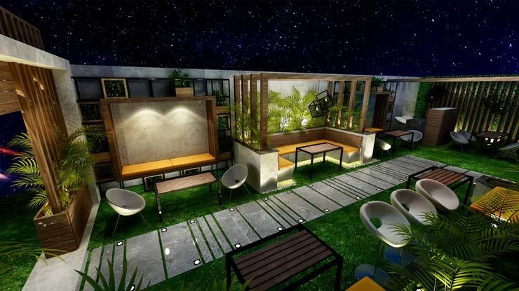 Cafe Design:  Zen garden by Micasa Design, Modern Wood Wood effect
