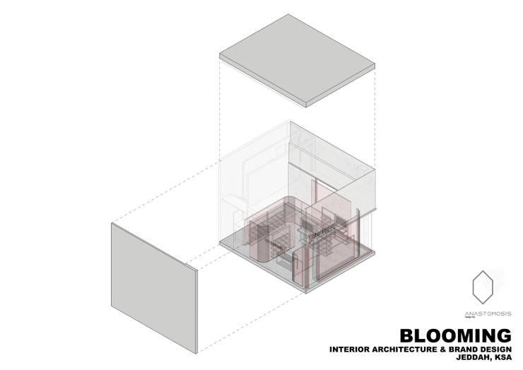 أكسونوميتريك Axonometric: الحد الأدنى  تنفيذ Anastomosis Design Lab, تبسيطي