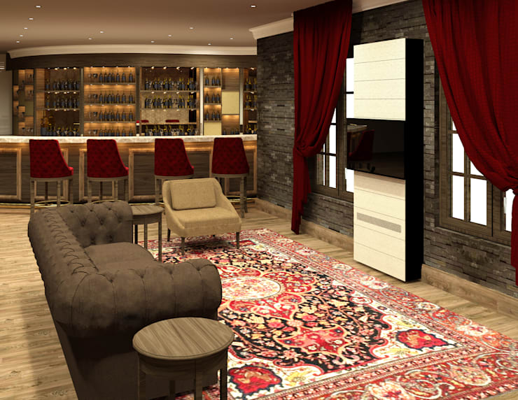 Cigar Lounge : modern  by Rayshon PTY LTD, Modern