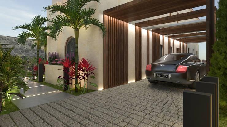 برجولا للسيارة تنفيذ Saif Mourad Creations, حداثي