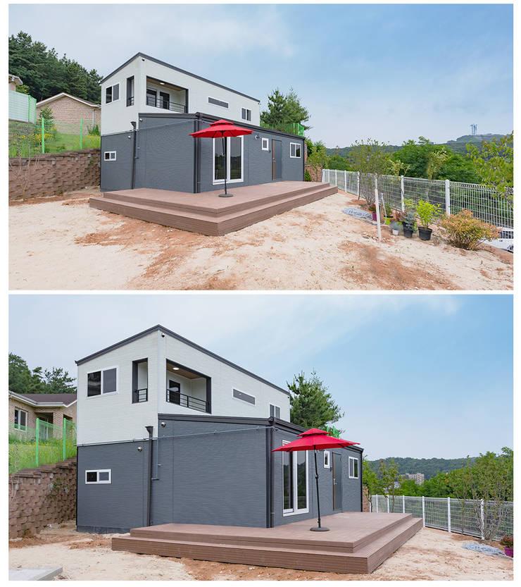 Exterior :: 외관: 공간제작소(주)의  전원 주택,모던