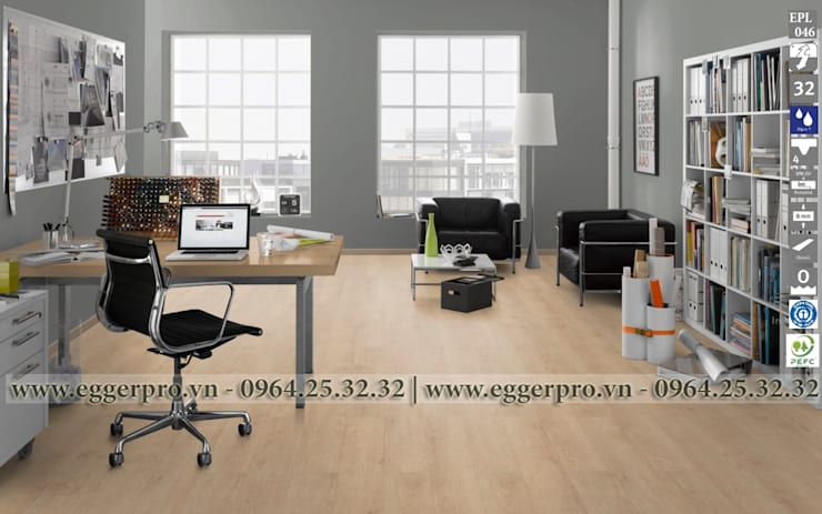 Sàn gỗ công nghiệp Egger EPL 100: hiện đại  by Sàn Gỗ Cao Cấp Gia Bảo, Hiện đại