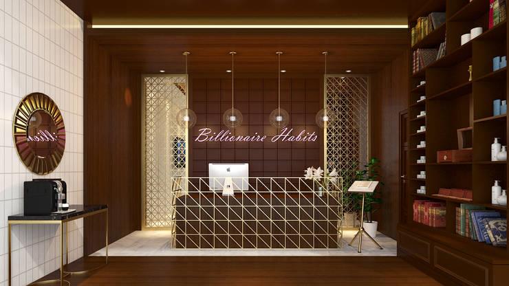 Billionaire Habits: Ruang Komersial oleh Antelope Studio, Klasik Kayu Wood effect