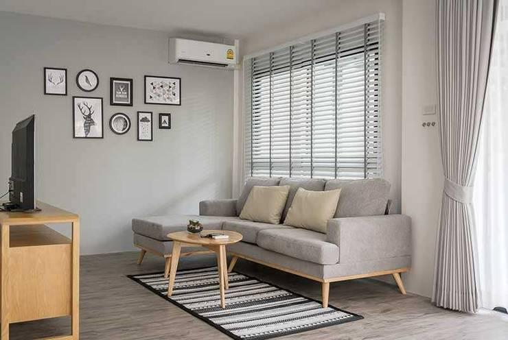 Rèm gỗ tự nhiên cho phòng khách: hiện đại  by Avinahome, Hiện đại Gỗ Wood effect