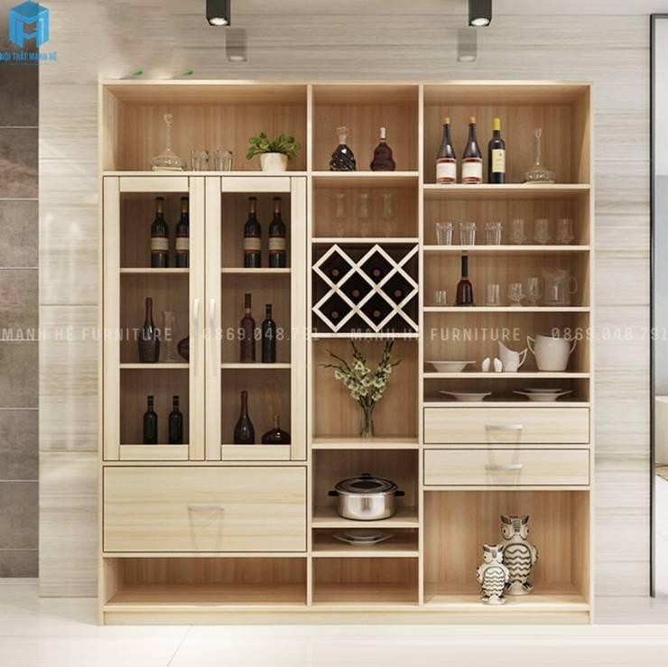 Thiết kế nội thất căn hộ cao cấp ECO GREEN SAI GON – 97m2 – 3 phòng ngủ:  Hầm rượu by Công ty TNHH Nội Thất Mạnh Hệ, Hiện đại Gỗ Wood effect