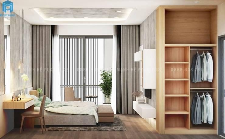 Thiết kế nội thất căn hộ cao cấp ECO GREEN SAI GON – 97m2 – 3 phòng ngủ:  Phòng ngủ by Công ty TNHH Nội Thất Mạnh Hệ, Bắc Âu