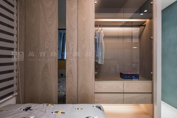 欣巴巴事業/文元及第-碧暮悠悠:  臥室 by SING萬寶隆空間設計, 北歐風