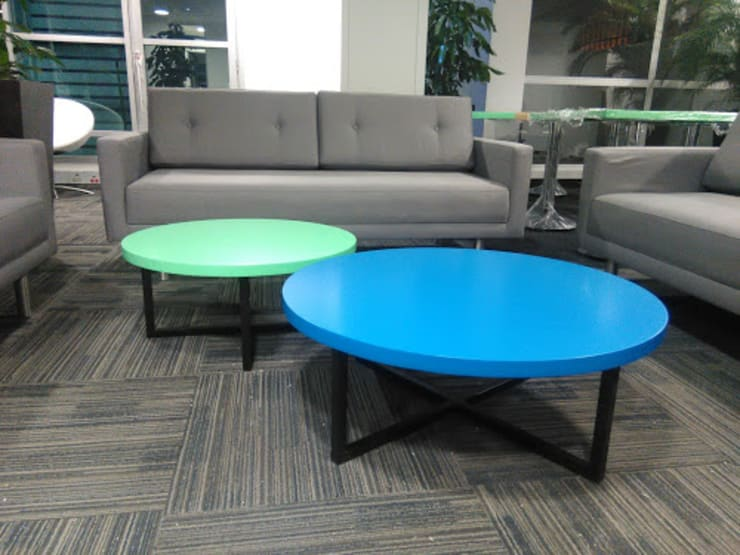 Sala de espera:  de estilo  por CMS Mobiliario, Ecléctico Textil Ámbar/Dorado