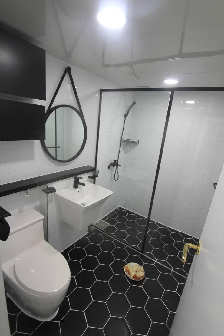 부산 가야 e편한세상 45평형: 조은날인테리어디자인의  욕실,모던