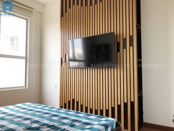 Lam trang trí:  Phòng ngủ by Công ty TNHH Nội Thất Mạnh Hệ, Hiện đại Bê tông cốt thép
