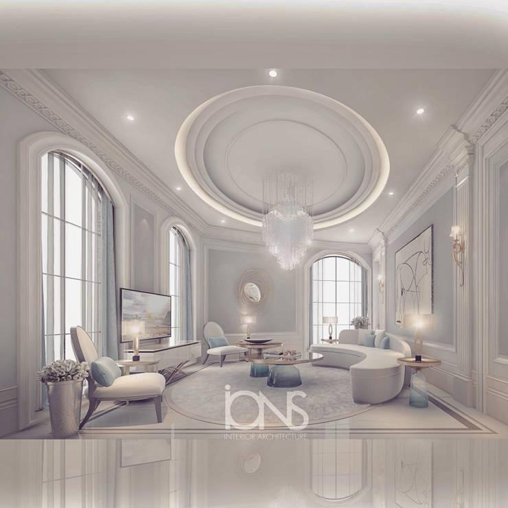 Salas / recibidores de estilo  por IONS DESIGN, Minimalista Mármol