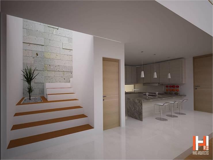 Modern Corridor, Hallway and Staircase by HHRG ARQUITECTOS Modern