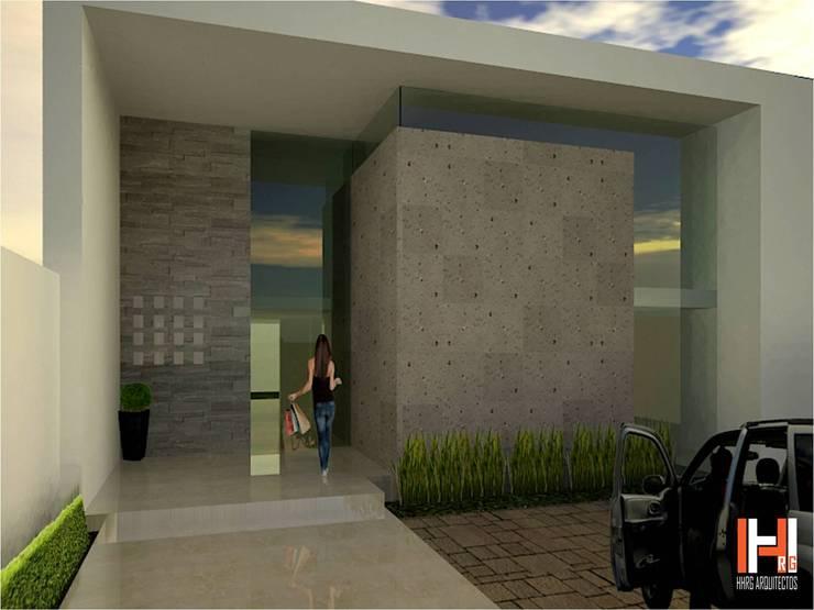 Maisons de style  par HHRG ARQUITECTOS, Minimaliste