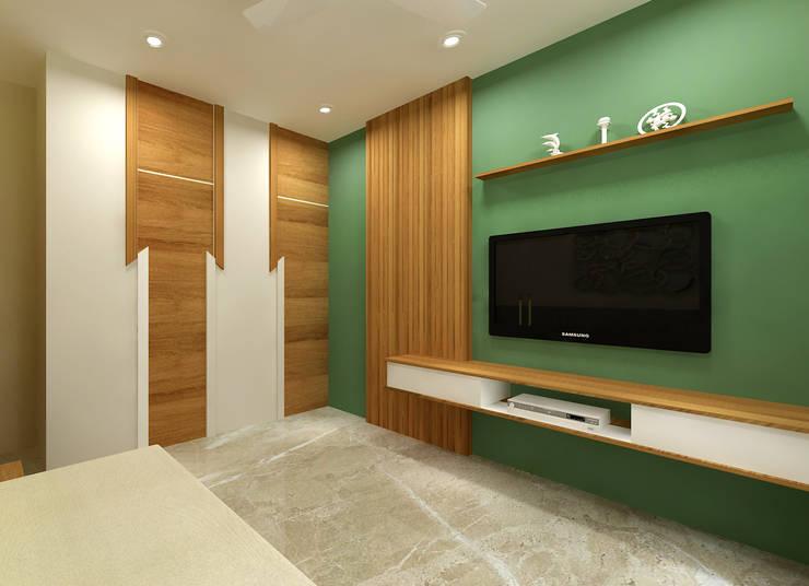 Parents Bedroom Minimalist bedroom by SPACE DESIGN STUDIOS Minimalist