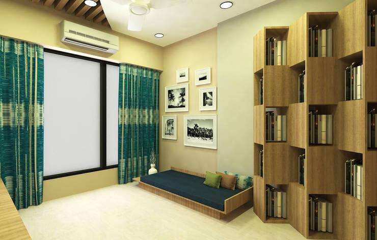 Media Cum Office Minimalist media room by SPACE DESIGN STUDIOS Minimalist