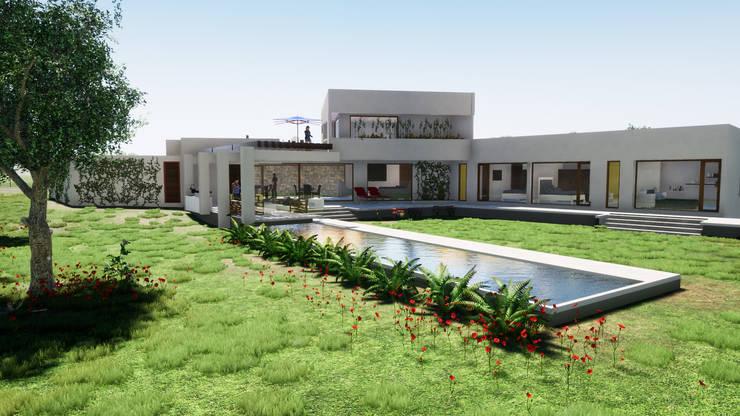 Primera clave: la Orientacion: Casas de estilo  por Casas del Girasol- arquitecto Viña del mar Valparaiso Santiago, Mediterráneo