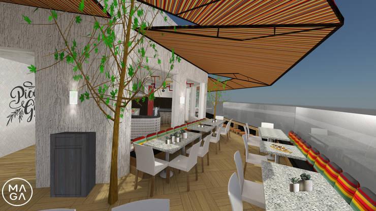 Restaurante Pico&Gallo: Comedores de estilo  por MaGa Delgado, Ecléctico