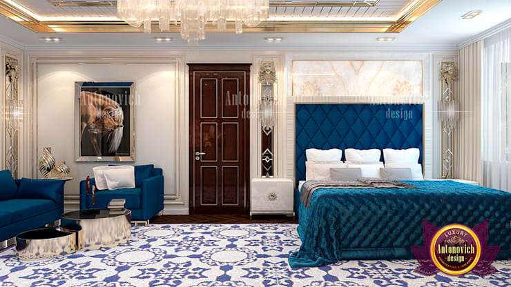 "Luxury Blue Bedroom Decoration: {:asian=>""asian"", :classic=>""classic"", :colonial=>""colonial"", :country=>""country"", :eclectic=>""eclectic"", :industrial=>""industrial"", :mediterranean=>""mediterranean"", :minimalist=>""minimalist"", :modern=>""modern"", :rustic=>""rustic"", :scandinavian=>""scandinavian"", :tropical=>""tropical""}  by Luxury Antonovich Design,"