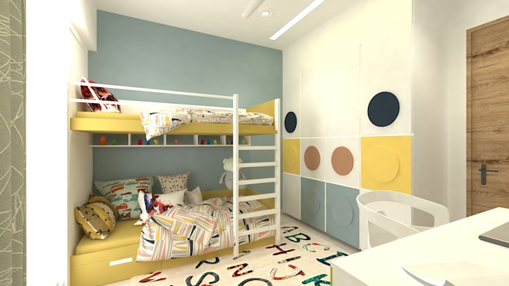 Kids Bedroom Minimalist bedroom by SPACE DESIGN STUDIOS Minimalist