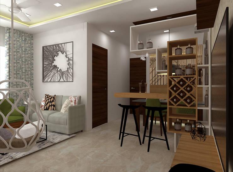Living Room Minimalist living room by SPACE DESIGN STUDIOS Minimalist
