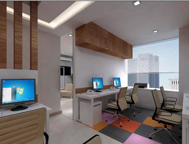 Staff Area Minimalist study/office by SPACE DESIGN STUDIOS Minimalist