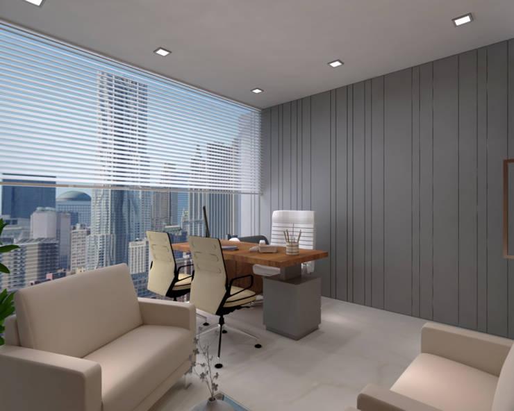 MD cabin Minimalist study/office by SPACE DESIGN STUDIOS Minimalist