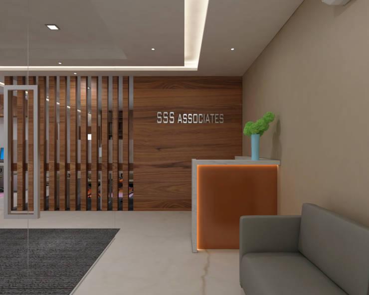 Reception Area Minimalist study/office by SPACE DESIGN STUDIOS Minimalist