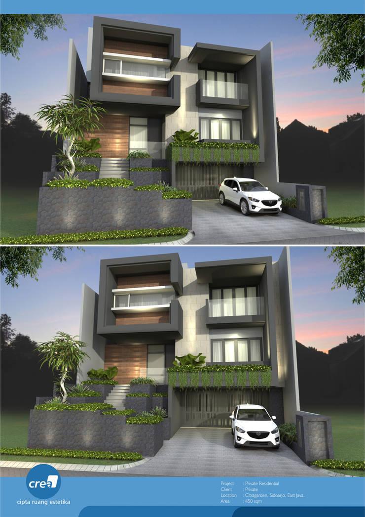 Citragarden Residential: Rumah tinggal  oleh Crea architect, Minimalis Batu Bata