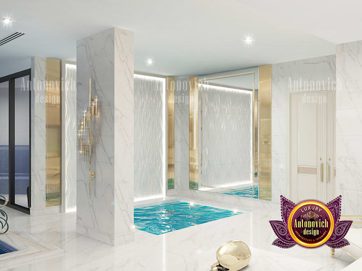 """Extravagant  Indoor Swimming Pool: {:asian=>""""asian"""", :classic=>""""classic"""", :colonial=>""""colonial"""", :country=>""""country"""", :eclectic=>""""eclectic"""", :industrial=>""""industrial"""", :mediterranean=>""""mediterranean"""", :minimalist=>""""minimalist"""", :modern=>""""modern"""", :rustic=>""""rustic"""", :scandinavian=>""""scandinavian"""", :tropical=>""""tropical""""}  by Luxury Antonovich Design,"""