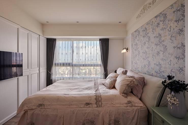 主臥室:  臥室 by 趙玲室內設計, 古典風