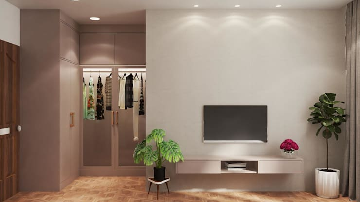 Thiết kế và thi công nội thất nhà phố dự án Thăng Long Home: Châu Á  by Công ty TNHH kiến trúc xây dựng nội thất An Phú, Châu Á Bê tông