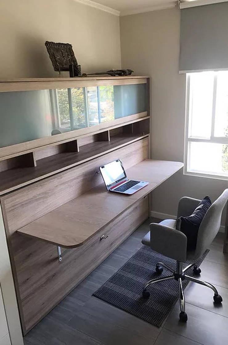 Cama Escritorio Abatible Mueble Superior:  de estilo  por Kamas y Petacas, Minimalista Aglomerado