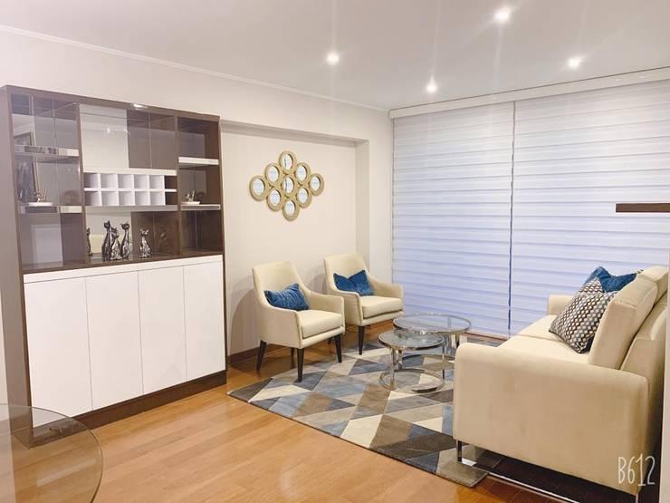 Sala: Salas / recibidores de estilo  por Shirley Palomino, Moderno