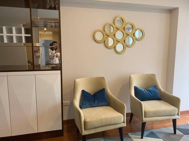 Espejo decorativo: Salas / recibidores de estilo  por Shirley Palomino, Moderno