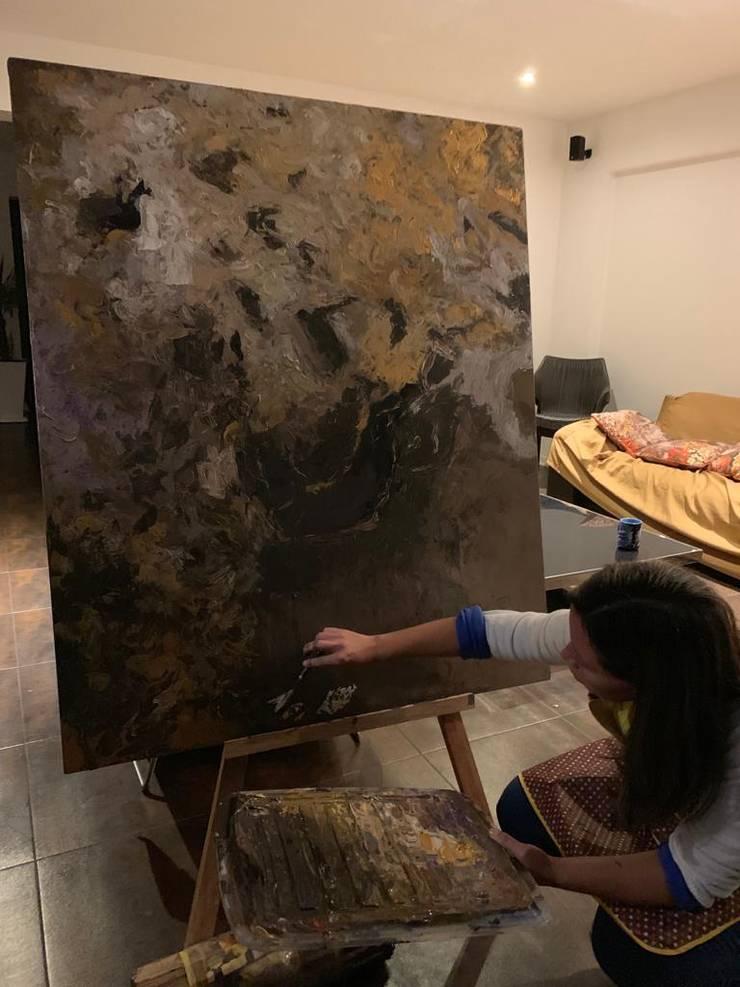 Pintura abstracta:  de estilo  por Shirley Palomino, Moderno